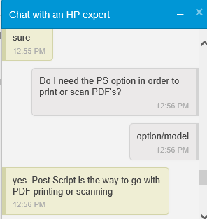 HP Chat 7