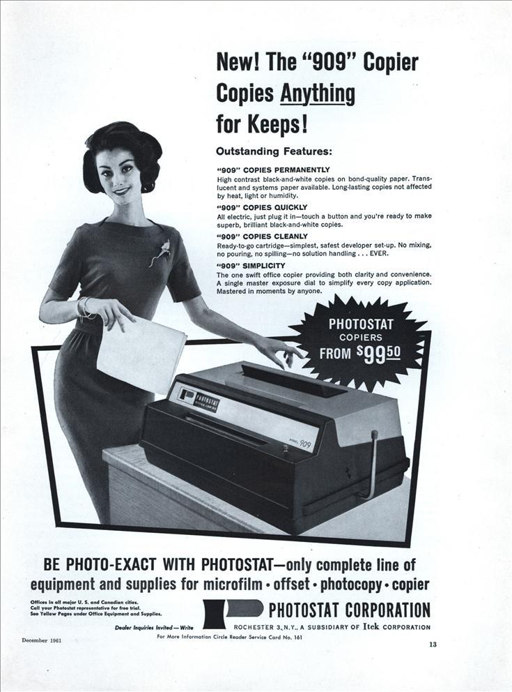 909 photostat copier
