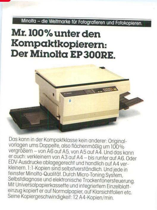 Minolta EP 300RE Ad